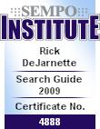 """Certificate of completion for SEMPO Institute course """"Insider's Guide to Search Marketing"""""""